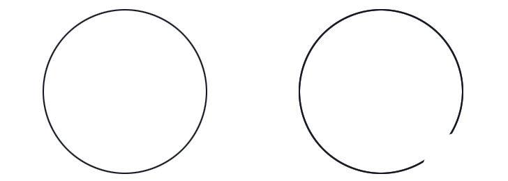 ゲシュタルトの欠けた円